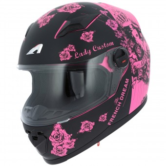 Casque Full Face Astone GT2 Lady Custom Black Pink