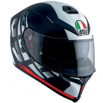 Casque Full Face AGV K-5 S Darkstorm Matt Black Red