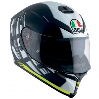 Casque Full Face AGV K-5 S Darkstorm Matt Black Yellow