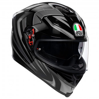 Casque Full Face AGV K-5 S Hurricane 2.0 Black Silver