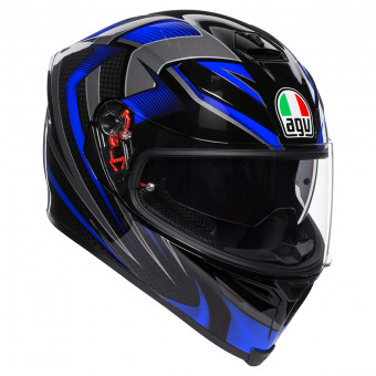 Casque Full Face AGV K-5 S Hurricane 2.0 Black Blue