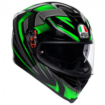 Casque Full Face AGV K-5 S Hurricane 2.0 Black Green