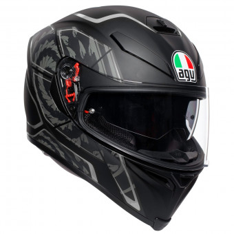 Casque Full Face AGV K-5 S Tornado Black Silver