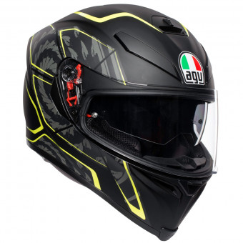 Casque Full Face AGV K-5 S Tornado Black Yellow Fluo