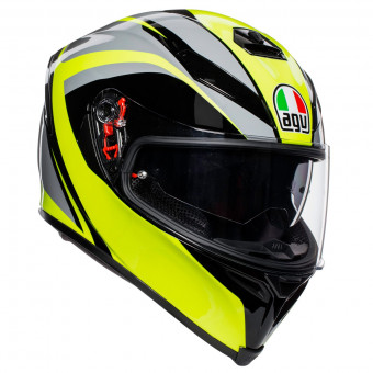 Casque Full Face AGV K-5 S Typhoon Black Grey Yellow