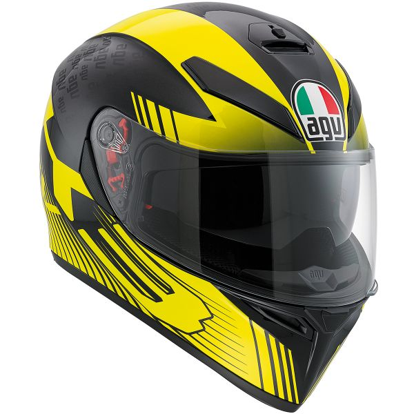 helmet agv k3 sv glimpse black yellow ready to ship. Black Bedroom Furniture Sets. Home Design Ideas