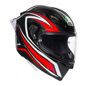 Casque Full Face AGV Pista GP R Staccata Carbon Red