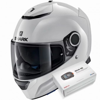 Casque Full Face Shark Spartan Blank WHU