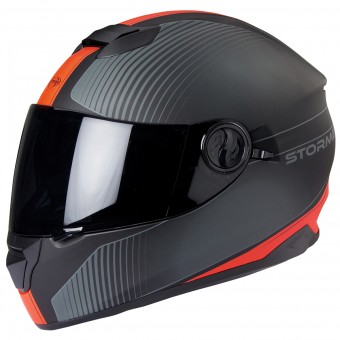 Casque Full Face Stormer Versus Strip Matt Red