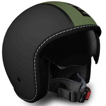 Casque Open Face Momo Design Blade Black Matt Green