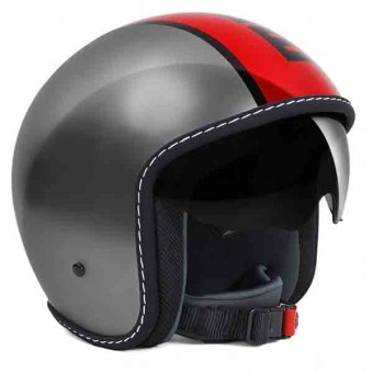 Casque Open Face Momo Design Blade Grey Red
