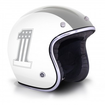 Casque Open Face GPA Carbon Legend One White