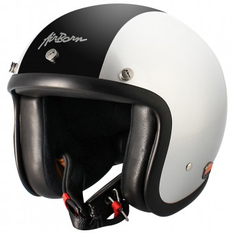 Casque Open Face Airborn Steve AB 9 Silver Black