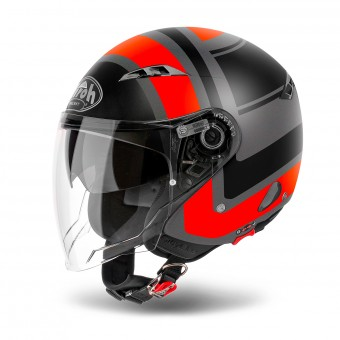 Casque Open Face Airoh City One Wrap Orange Matt