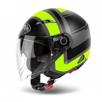 Casque Open Face Airoh City One Wrap Yellow Matt