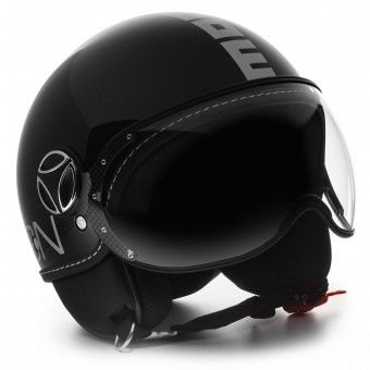 Casque Open Face Momo Design FGTR Classic Black Brillant Metal