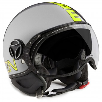 Casque Open Face Momo Design FGTR Evo Grey Yellow Fluo