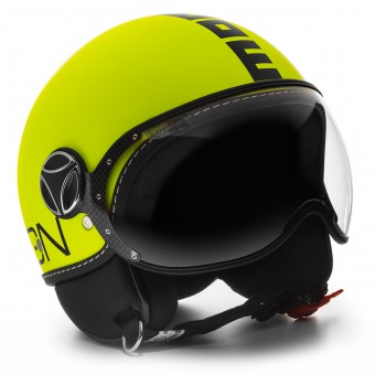 Casque Open Face Momo Design FGTR Fluo Yellow