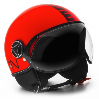 Casque Open Face Momo Design FGTR Fluo Matte Orange
