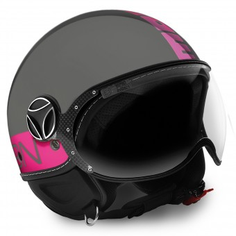 Casque Open Face Momo Design FGTR Grey Fuchsia Fluo
