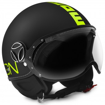 Casque Open Face Momo Design FGTR Fluo Matt Black Fluo Yellow