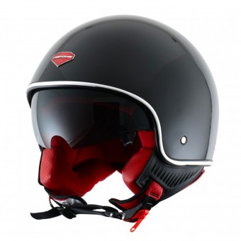 Casque Open Face Astone Minijet S Retro Gloss Black