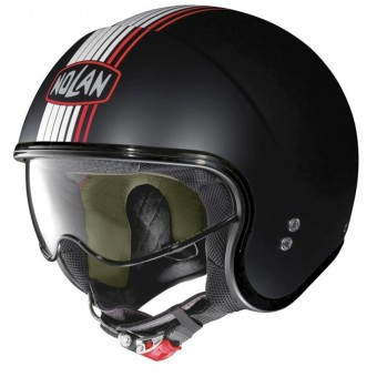 Casque Open Face Nolan N21 Joie De Vivre Flat Black Red 58