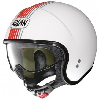 Casque Open Face Nolan N21 Joie De Vivre Metal White Red 64