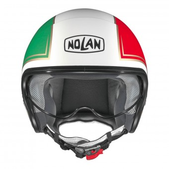 Casque Open Face Nolan N21 Tricolore Metal White 31