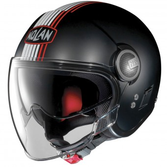 Casque Open Face Nolan N21 Visor Joie De Vivre Flat Black Red 35
