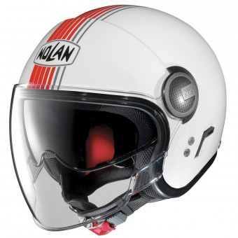 Casque Open Face Nolan N21 Visor Joie De Vivre Metal White Red 42