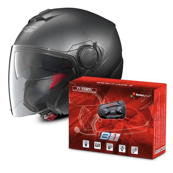 Helmet Nolan N40 Special N Com Black Graphite 9 B1 Bluetooth Kit