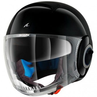 Casque Open Face Shark Nano Blank BLK