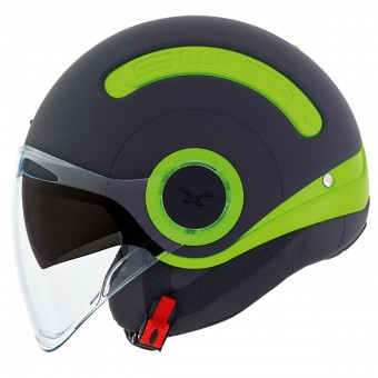 Casque Open Face Nexx SX.10 Switz Matt Black Fluo Green