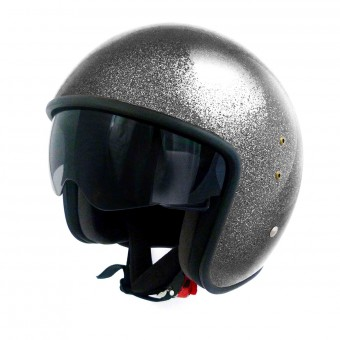 Casque Open Face Up Smart Glitter Black