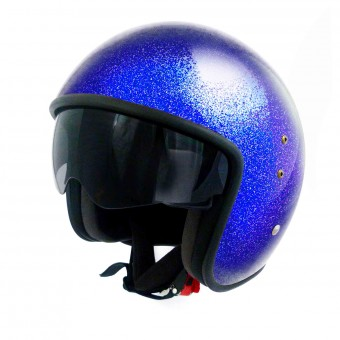 Casque Open Face Up Smart Glitter Blue