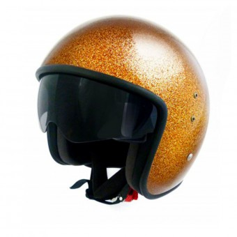 Casque Open Face Up Smart Glitter Gold