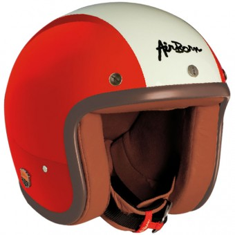 Casque Open Face Airborn AB 1 Red - White