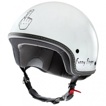 Casque Open Face Funny Finger Funny Finger White