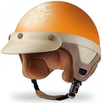 Casque Open Face Borsalino Panama Matt Orange