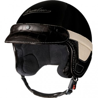 Casque Open Face Borsalino Panama Croco Black