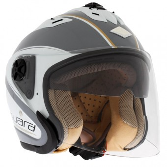 Casque Open Face Edguard Touring Grey White