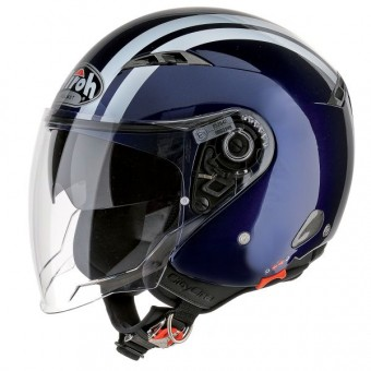 Casque Open Face Airoh Night Blue City One Flash