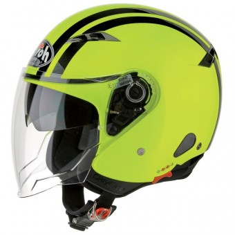 Casque Open Face Airoh City One Flash Yellow
