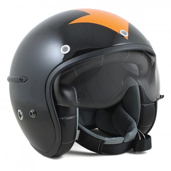 Casque Open Face HARISSON Corsair Harrow Black Orange