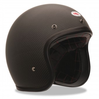 Casque Open Face Bell Custom 500 Carbon Solid Black Dlx