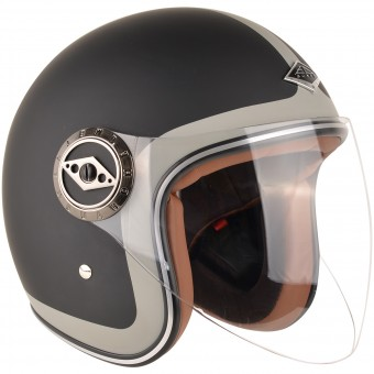 Casque Open Face Edguard Dirt Ed Heritage Black Grey