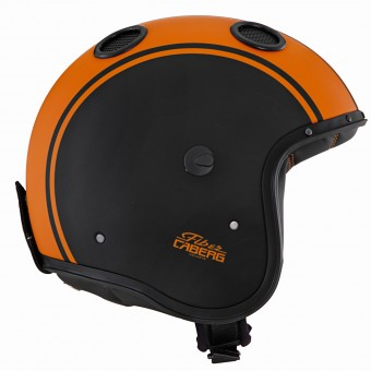 Casque Open Face Caberg Doom Legend Matt Black Orange