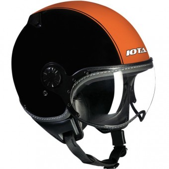Casque Open Face IOTA DP04 Run Matt Black Orange