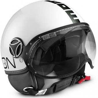 Casque Open Face Momo Design FGTR Classic White Black